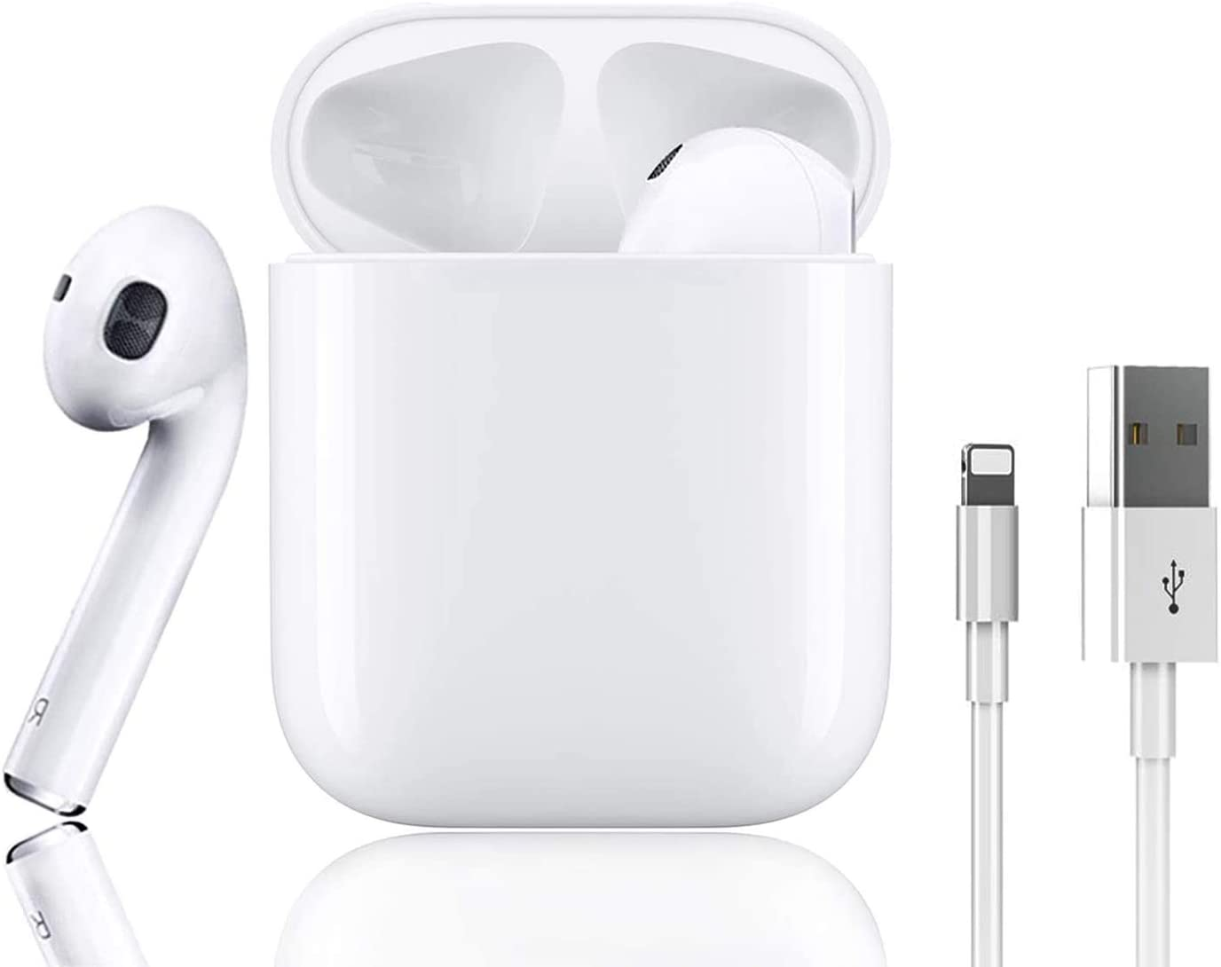 Bluetooth Earbuds, Bluetooth 5.0 Headphones Wireless Earbuds 24H Cycle Playtime in-Ear Wireless Headphones Earphones for Apple Airpods iPhone/Android