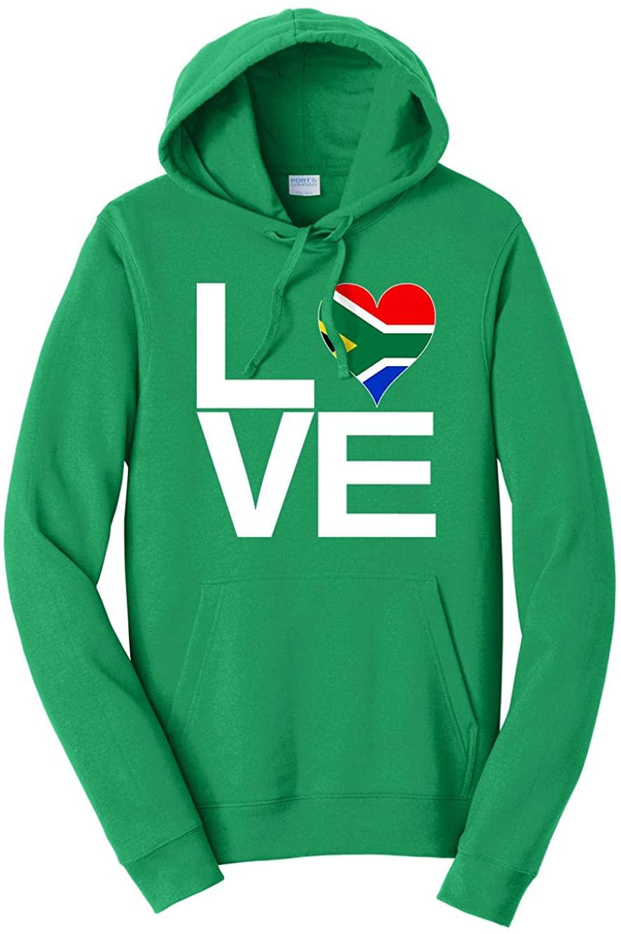 Hard Edge Design Men's Love Block South Africa Heart Hooded Sweatshirt