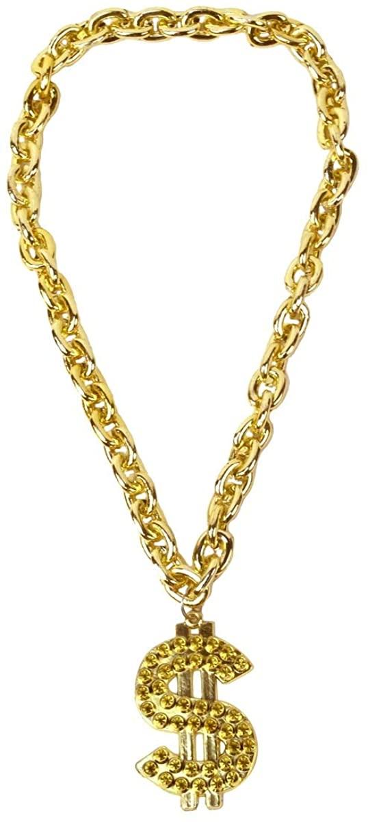 TG,LLC Treasure Gurus Gold Dollar Sign Necklace Rapper Pendant Costume Jewelry Accessory