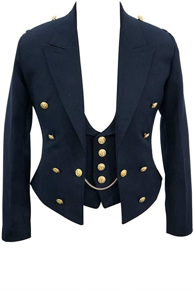 militaryharbor WW2 WWII German Kriegsmarine Officers Tuxedo Jacket/Dress Tunic