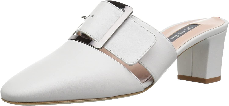 SJP by Sarah Jessica Parker Women's Hita Almond Toe Block Heel Mule