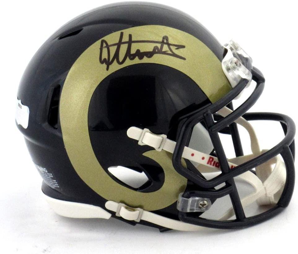 Todd Gurley Signed St Louis Rams Riddell Speed NFL Mini Helmet - Autographed NFL Mini Helmets