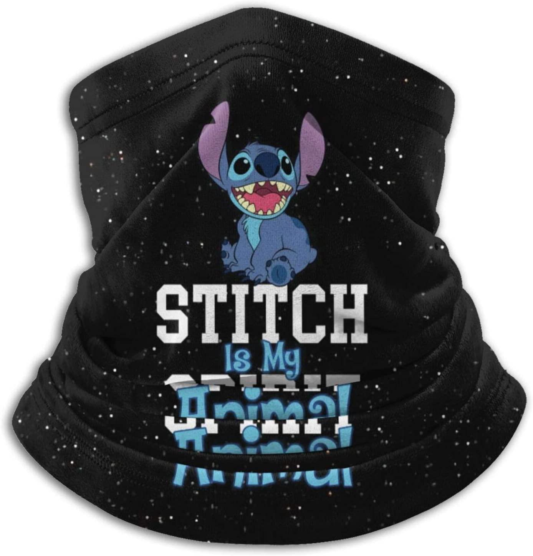 Ahdjagsads56 Stitch is My Spirit Animal Multifunctional Tube Headwear Warm Neck Scarf