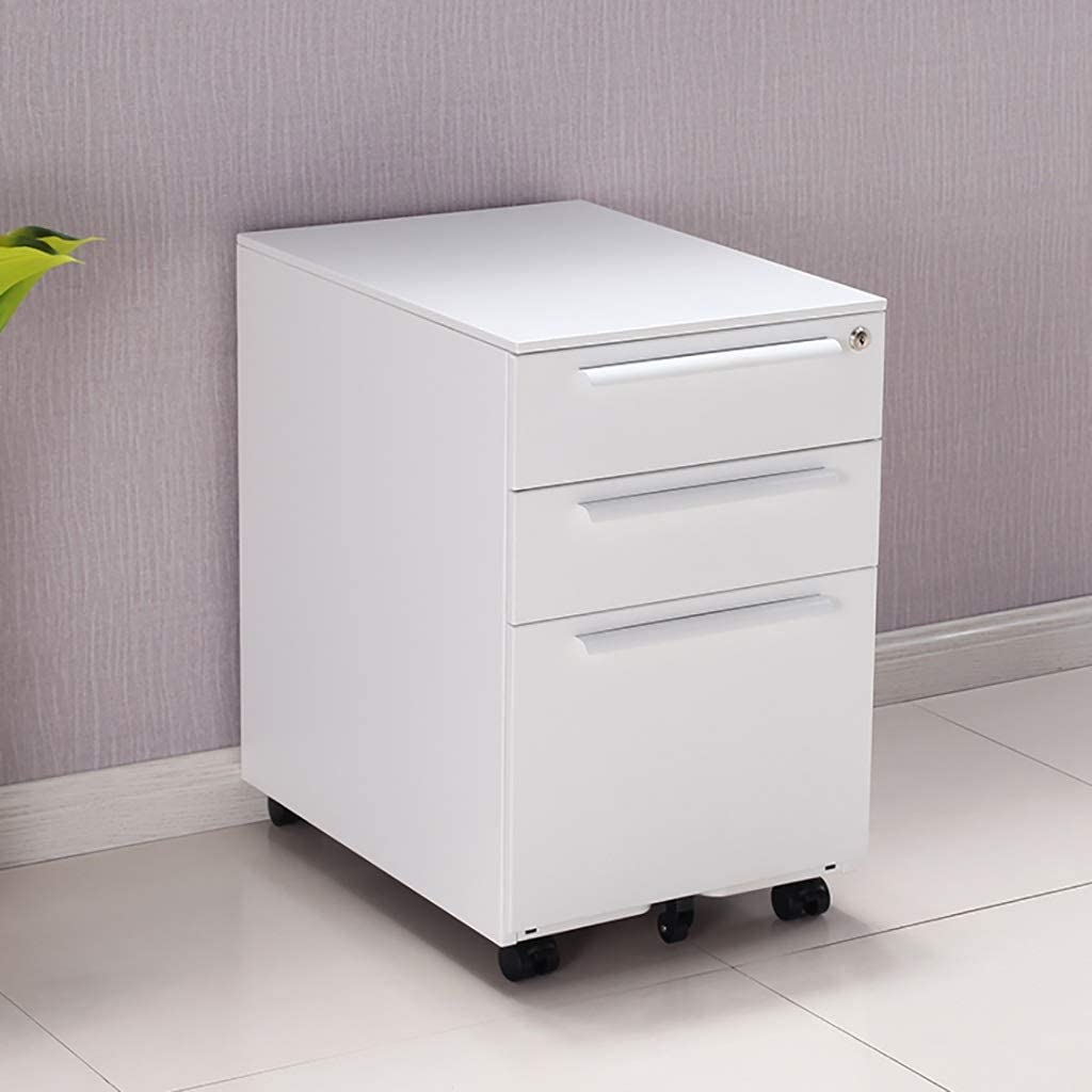 MTYLX Multifunction Office Storage File Cabinet-File Cabinets Data Storage File Box Folder Storage Box Drawer Filing Cabinet Wheeled Movable with Lock with Pulley Desktop Supplies File Box