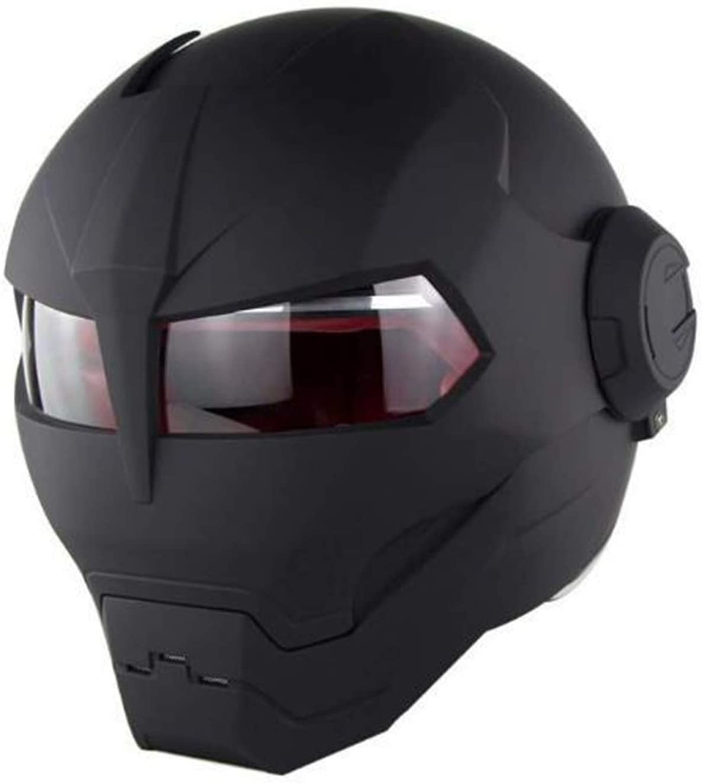QAZXCV Full Face Vintage Motorcycle Helmet Full Face Protection for Adult Men Women Moped Scooter Flip Up Helmet Crash Helmets Comply DOT Approved