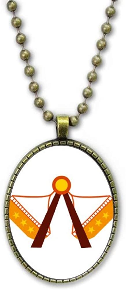MCJS Amusement Park Color Facilities Illustration Necklace Vintage Chain Bead Pendant Jewelry Collection