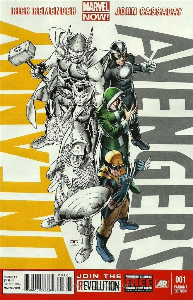 Uncanny Avengers #1E VF ; Marvel comic book