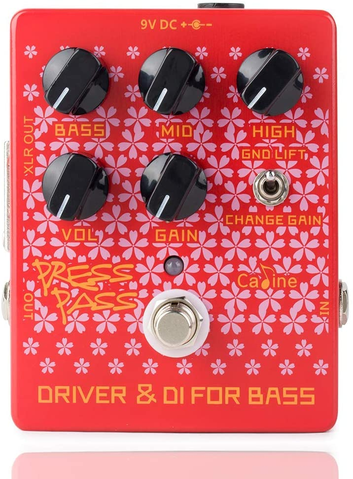 Caline CP-59 Driver Electronic Guitar Bass Effects Pedals Bass Amp DI Classic Tube Red Pedal