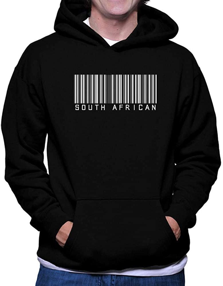 Teeburon South African Top Barcode Hoodie M Black