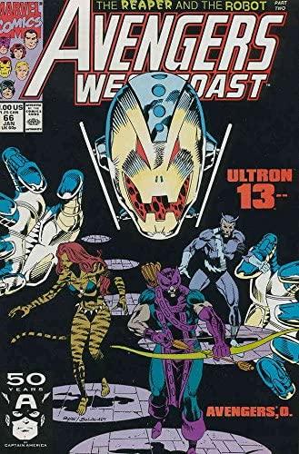 Avengers West Coast #66 FN ; Marvel comic book