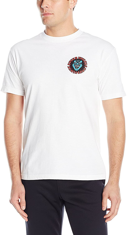 Santa Cruz Mens Screaming Hand Regular Short-Sleeve Shirt 2X-Large White