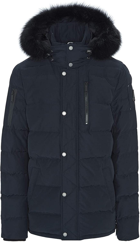 Moose Knuckles Bellswood Jacket in Navy & Black Fur