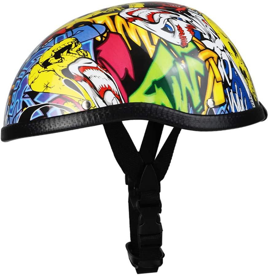 JTYX Motorcycle Helmet Half Helmet Open Face Helmet Jet Helmet Scooter Helmet Adjustable Protection Shell Helmet for Bike, Cruiser, Chopper, Moped, Scooter, ATV