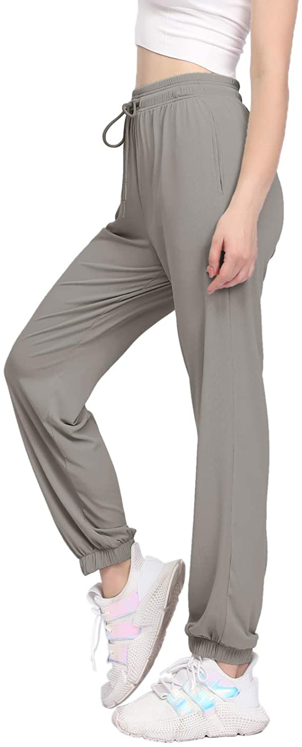 Hirdou Yoga Pants for Women High Waisted Lightweight Loose Sweatpants with Pockets