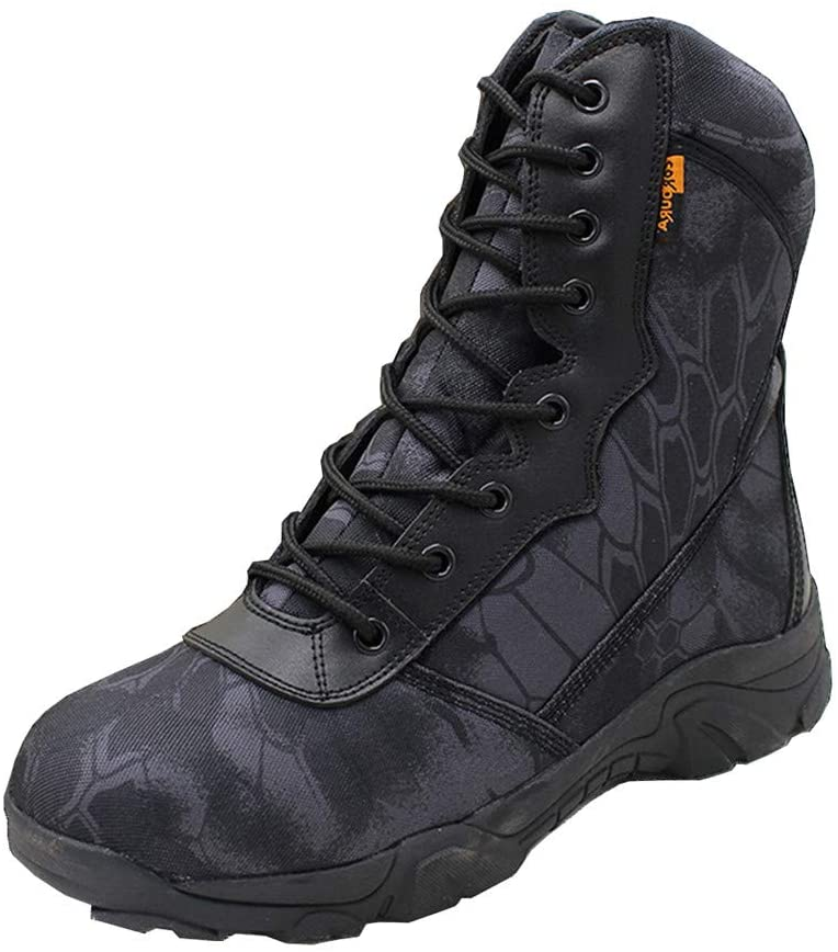 ZJDU Lightweight Military Tactical Boots,Waterproof Hiking Boots, Durable Combat Boots,for Hiking Work Boots,for Men and Women,Black b,43