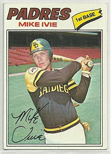 Mike Ivie 1977 Topps Baseball Card #325 San Diego Padres