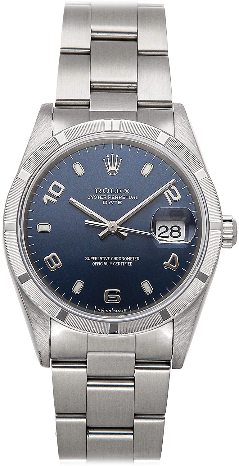 Rolex Datejust Mechanical (Automatic) Blue Dial Mens Watch 15210 (Pre-Owned)