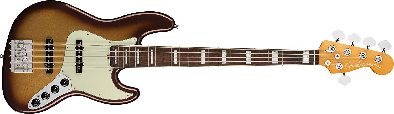 Fender American Ultra Jazz Bass V RW Mocha Burst w/Hardshell Case