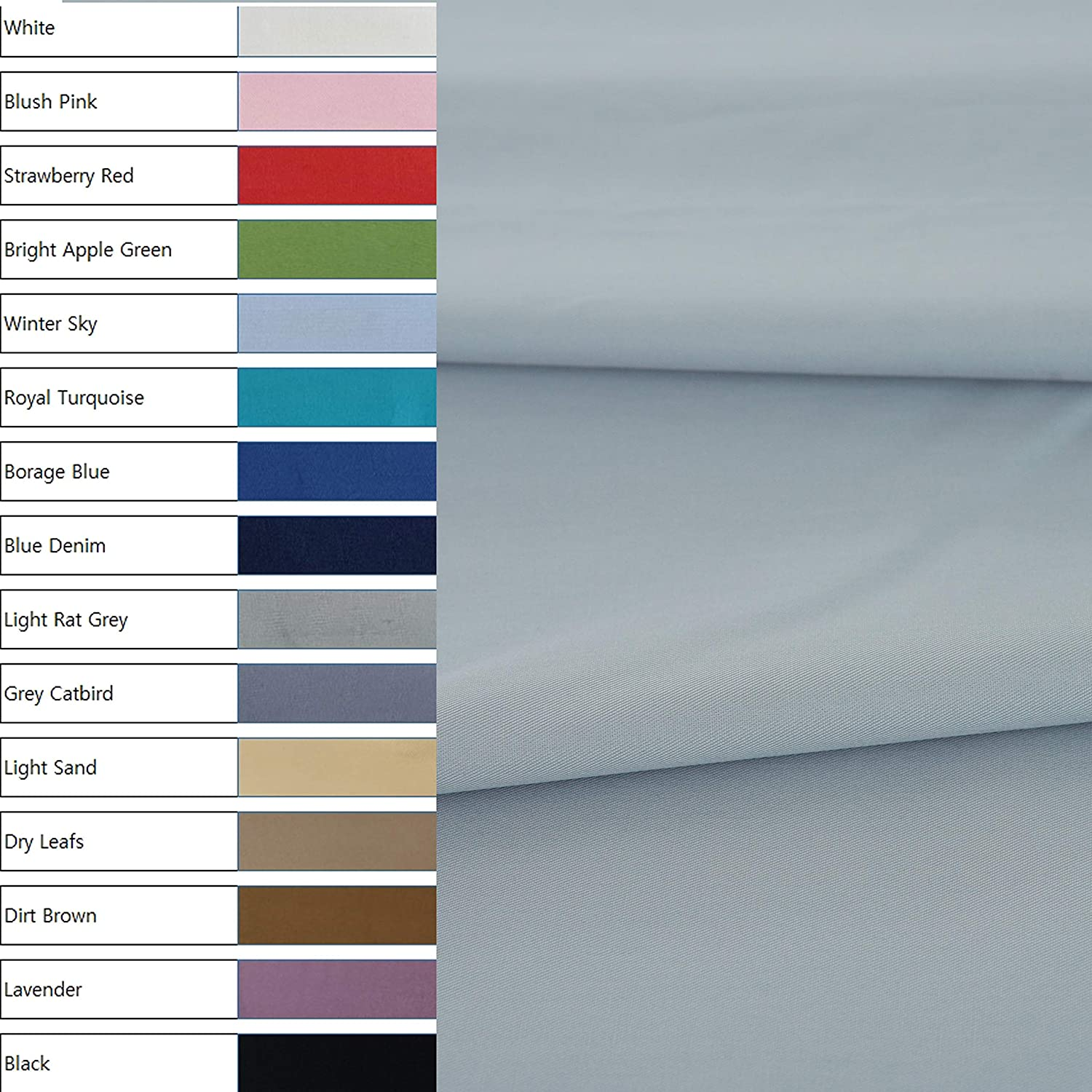 COTTONVILL 40count Cotton Solid Fabric (3yard, 09-Light Rat Grey)