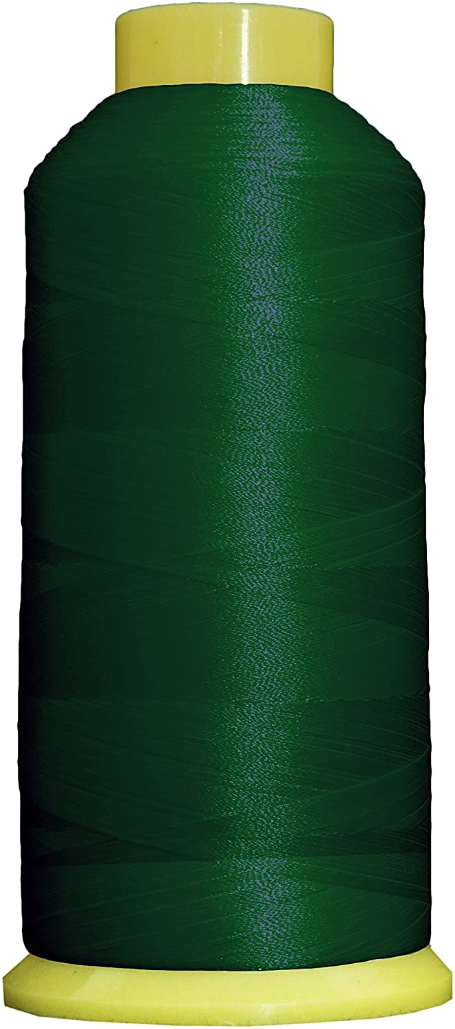 Threadart Large 5000m Cones Polyester Machine Embroidery Thread | Huge 5000M (5500 Yard) Cones 40wt | Compatible With Janome Bernina Embroidery & Sewing Machines | No. 213 - Holly Green