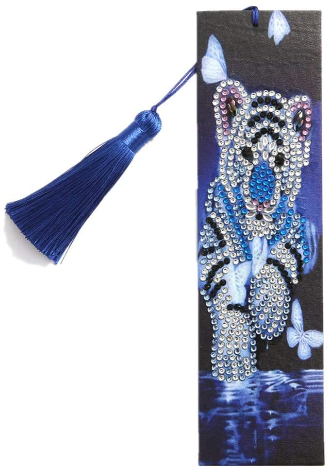 Youdw 5D DIY Diamond Painting Bookmark - Tassel Shaped Diamond - DIY 5D Partial Drill Kits Crystal, Crystal Rhinestone Diamond Embroidery Paintings for Wall Decor - 6 x 21cm (Multicolor)