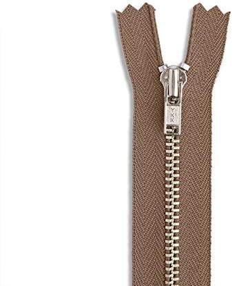 LAKESSTORY Light Brown Nickel Zipper 9 inch Zip for Sewing Craft