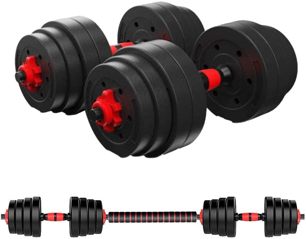 Fiudx Dumbbell,Adjustable Dumbbell Pair,Dumbbell Combination Environmental Dumbbell Barbell,50kg,Dumbbell Weight Set Barbell