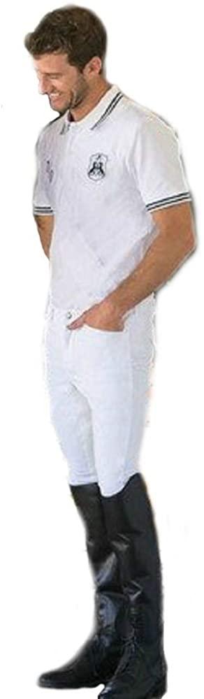Goode Rider Men's Authentic Polo (White, M)