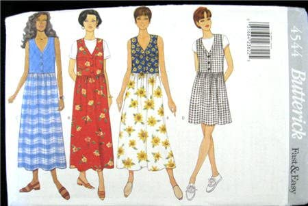 Butterick Sewing Pattern 4544 Misses' Dresses, Sizes 6 8 10