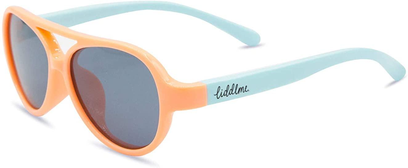 Baby Polarized Sunglasses with Adjustable Strap, Tangerine Stingrays, 3-18 Months