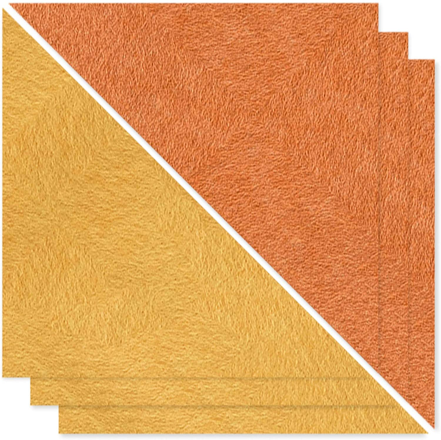 BUBOS 6 Pack Triangle Acoustic Panels Sound Proof Padding, 16.7 X 11.8 X 0.4 Inches Multi-Color Free Combination Sound dampening Panel Used in Home & Offices,Tangerine+Orange