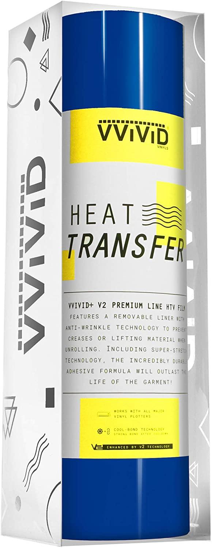 VVIViD V2 Powerplay Premium Line HTV Heat Transfer Vinyl Film 15ft by 1ft Roll (Royal Blue)