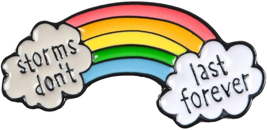 jackyee Brooch-Rainbow Brooch Colorful Enamel Pins,Jewelry Women Men Gifts Badge Jacket Jeans Decoration Pin,Corsage Bag Backpack Denim Clothing 630