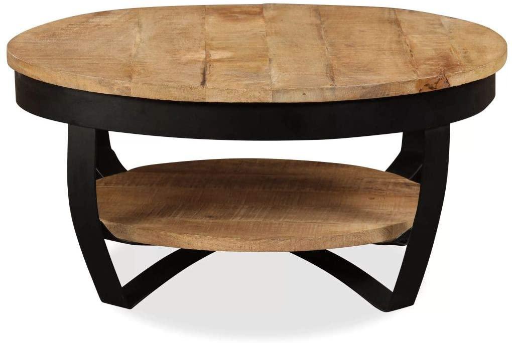 Tidyard Coffee Table Solid Rough Mango Wood 25.6