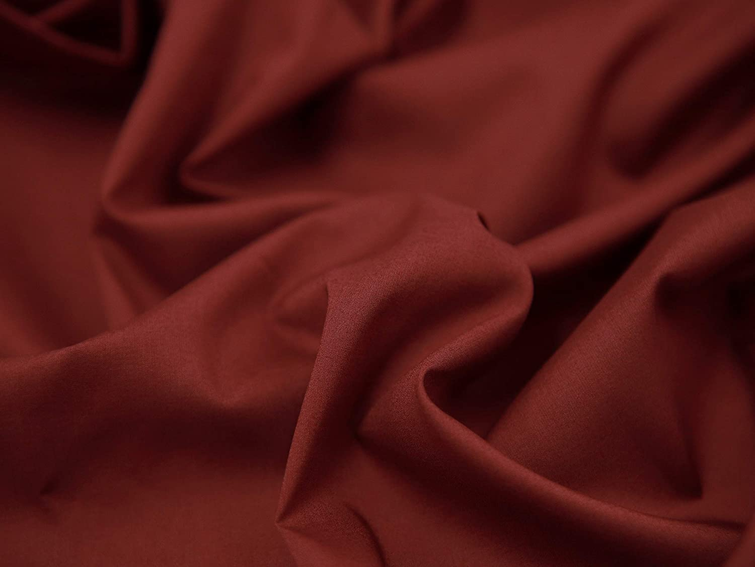 COTTONVILL 100COUNT Cotton Solid RevLawn Fabric (2yard, 13-DEEP Burgundy)