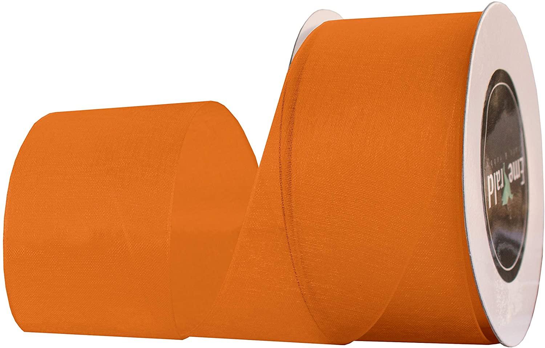 Premium Sheer Organza Ribbon, 25 Yards (Orange, 5/8 Inch)