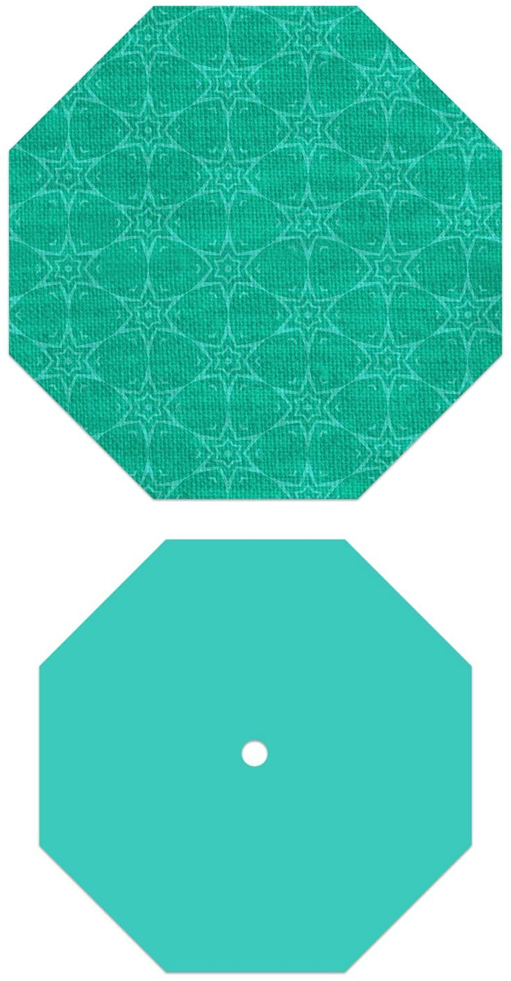 Crafters Edge English Paper 1.5 Octagon, 2 Piece Die Set