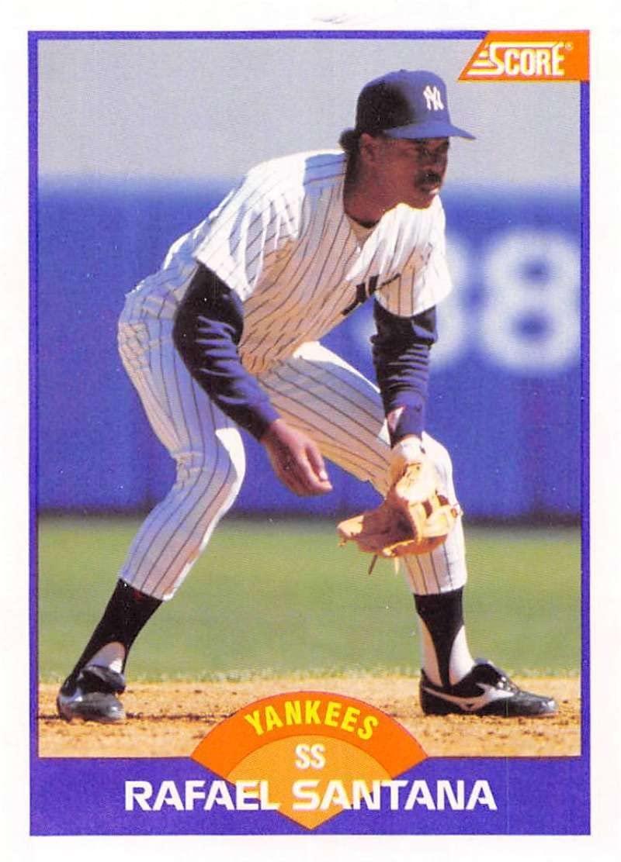 1989 Score #296 Rafael Santana New York Yankees