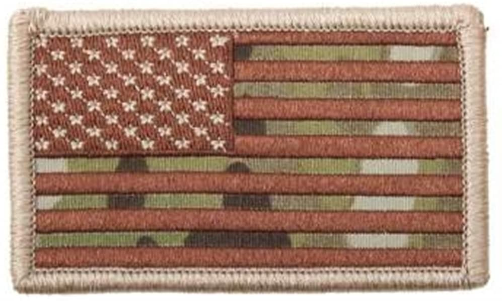 US American Flag Sniper Sheep Dog Warfare Embroidered Hook & Loop Backing Patches (Camo)