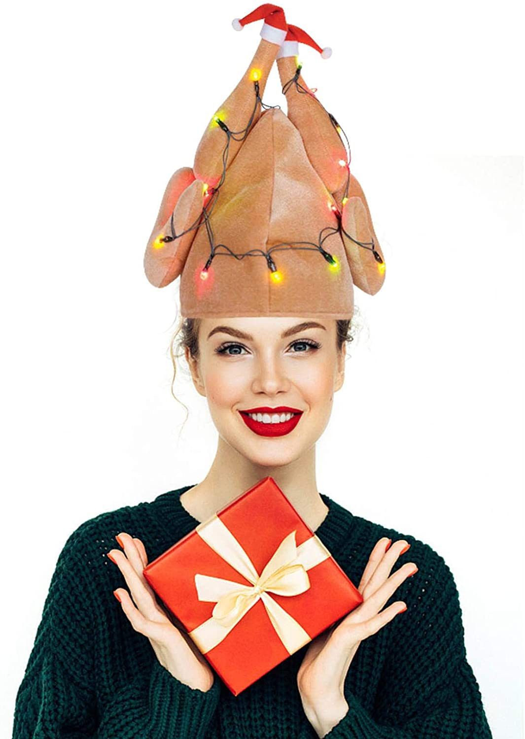 LebonYard Roasted Turkey Hat Thanksgiving Costume Accessory for Thanksgiving Night Event, Dress-up Party, Thanksgiving Decoration, Role Play, Carnival, Cosplay, Costume Accessories (B , 1PC)