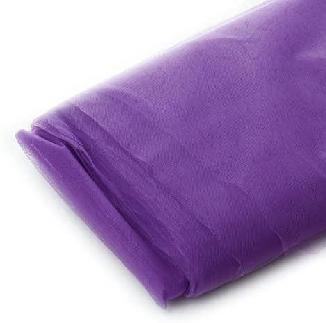 Tulle Fabric - 40 Yards Per Bolt (Purple)