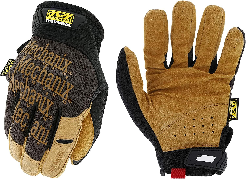 Mechanix Wear: The Original Leather Work Gloves (Large, Brown/Black), Model Number: LMG-75-010