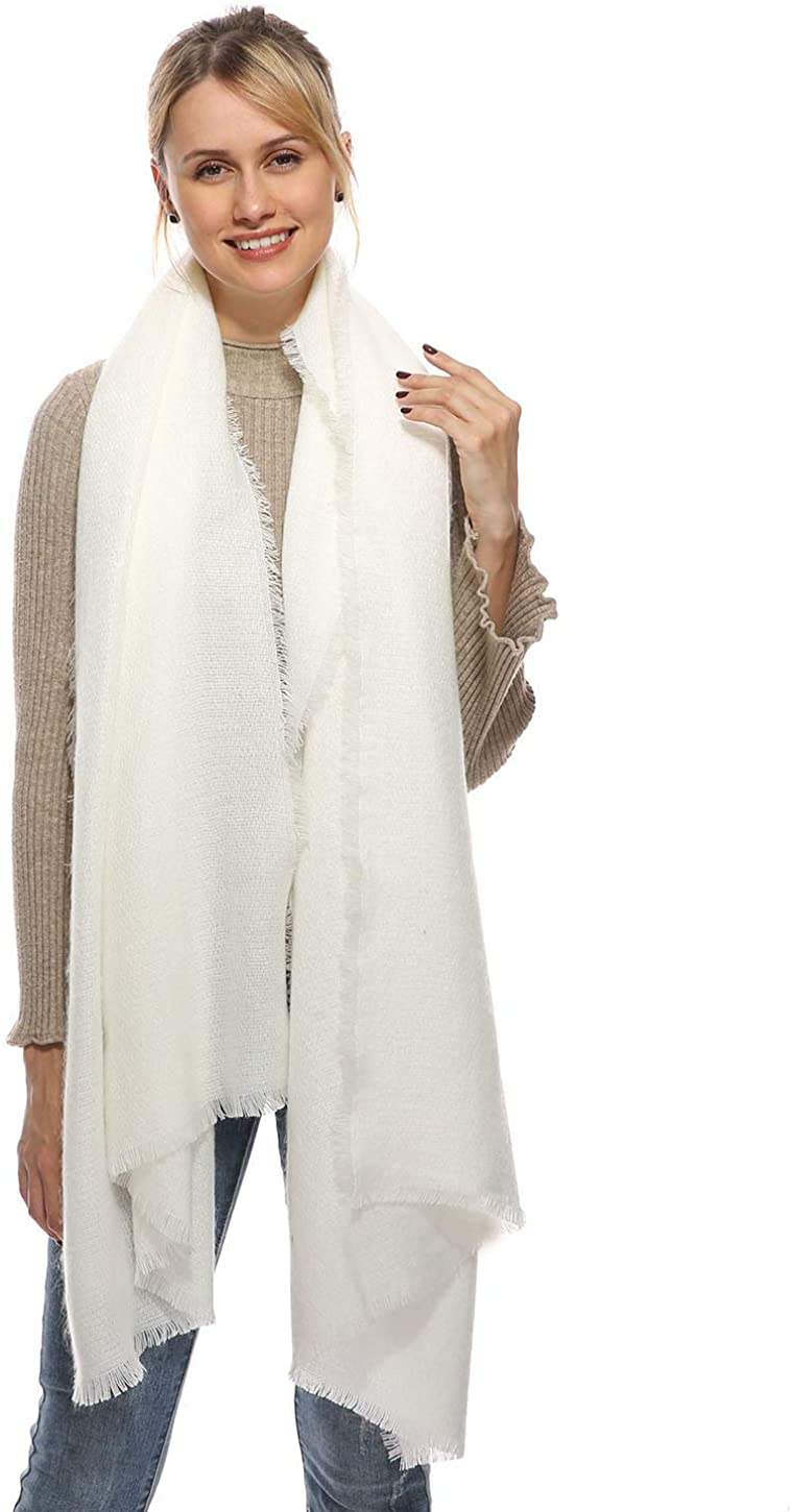 Oversized Long Blanket Scarf, Wrap and Shawl, Cashmere FeeL Pashmina, Cozy Warm for Winter Fall