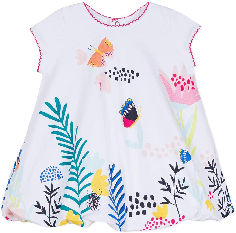 Catimini Baby Girls' Cute White Butterfly Bubble Dress (6m - 18m)