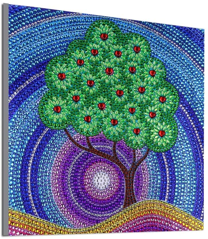 5D Diamond Painting kit, Special Shape Crystal Rhinestone Embroidery Painting, Picture Art, Home Wall Decoration (DZ210 Tree 30x30cm)