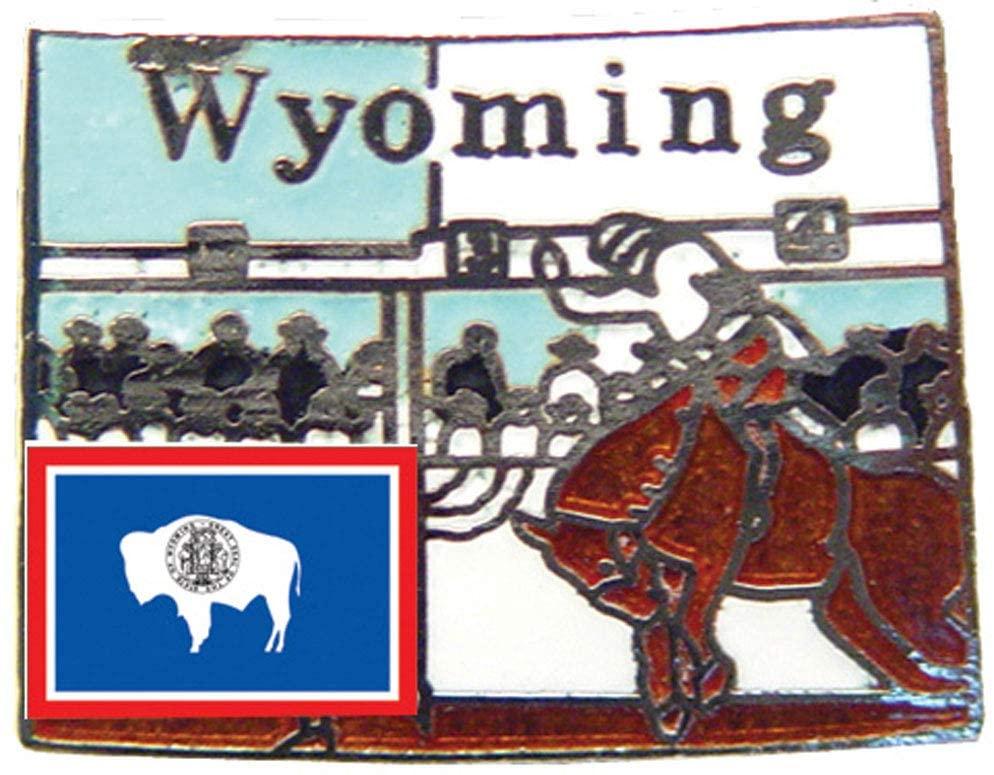 Wyoming State Shaped Map Lapel Metal Pin