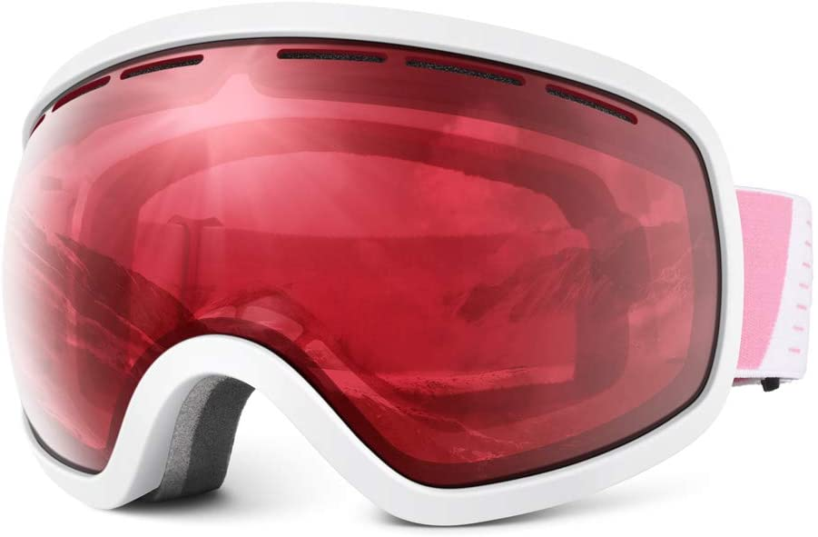 HUBO SPORTS Ski Snow Goggles for Men Women & Youth, OTG Ski/Snowboard Goggles of Dual Lens with Anti Fog UV400 Protection in Skiing Snowmobiling for Adult Teenage