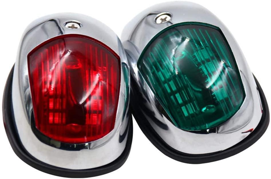 Boat LED Navigation Lights Red and Green, Marine Sailing Signal Lamp for Bow Side, Port, Starboard, Pontoons, Yacht - DC 12V