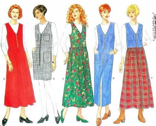 Butterick Sewing Pattern 4630 Misses Jumper & Top, Size 12 14 16