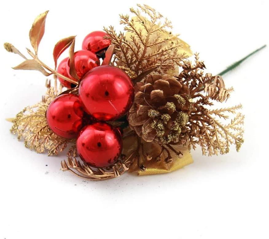 Riverbyland Traditional Christmas Picks Berry Spray Christmas Spray Set of 3